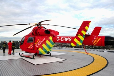The new designs on the London Air Ambulance helicopter