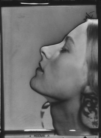 Solarised portrait of woman, c. 1930