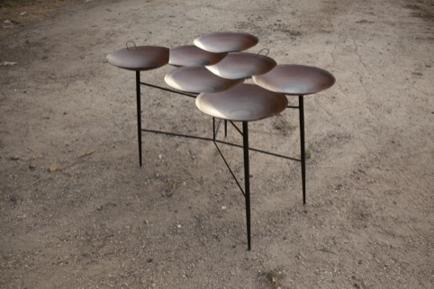 Saj Tables and  Steel shelf Noam Dover and Michal Cederbaum