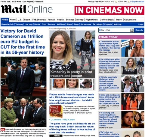 The Daily Mail website
