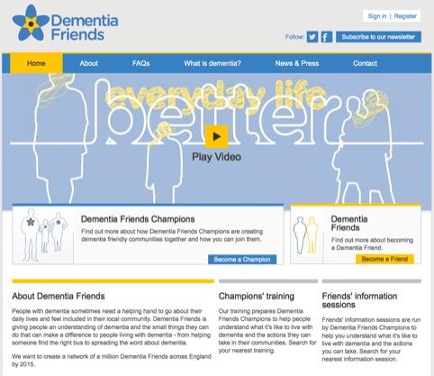 The Dementia Friends website