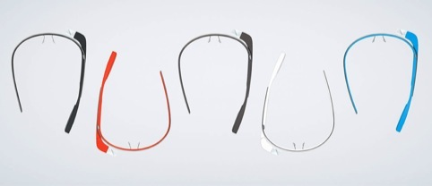 Google glasses available in a range of colours