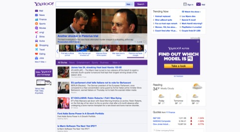 The new Yahoo website