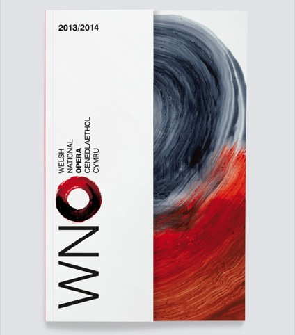 The new season book cover, featuring Hodgkin's work