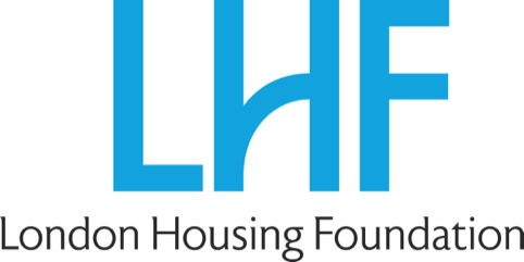 The new London Housing Foundation identity designed by John Spencer