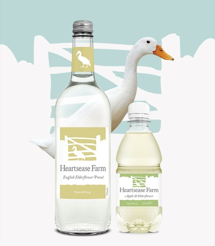 The duck-inspired Heartsease Farm bottles