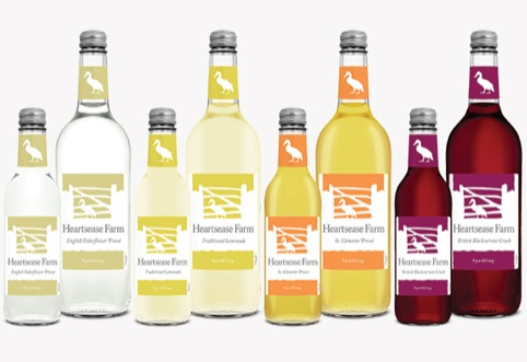Heartsease Farm glass bottle range