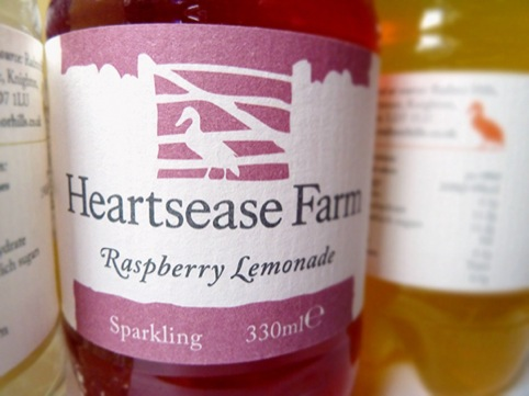 Heartsease Farm label