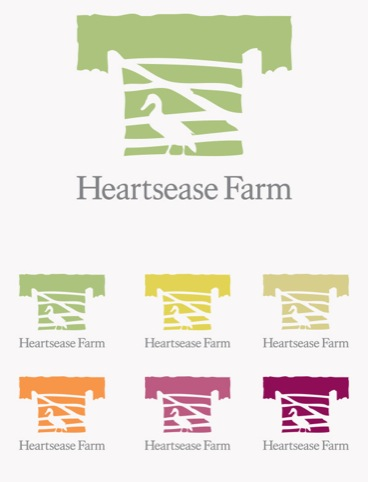 Heartsease Farm logo designs