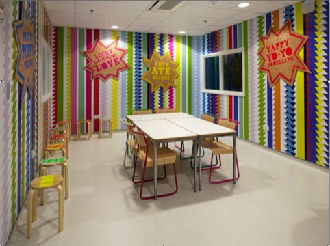Morag Myerscough is now redesigning ward spaces in the hospital