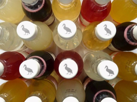 Heartsease Farm duck graphic bottle tops