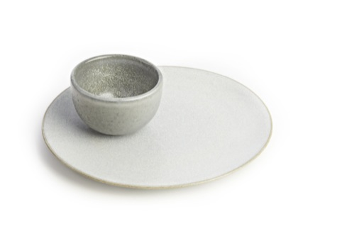 The Clove Club stoneware plate and bowl
