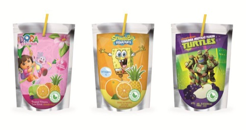 Nickelodeon Juice Drink Pouches