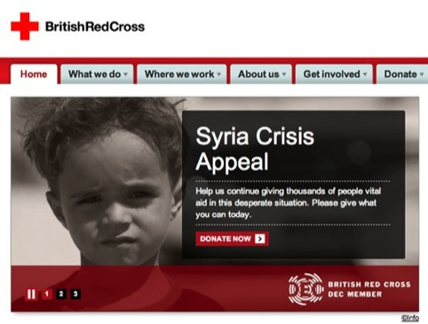 DEC branding on the British Red Cross website