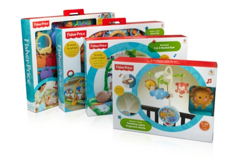 New Fisher Price packaging