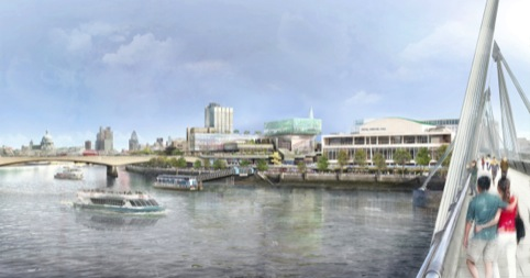 The Glass Pavilion will be visible across the Thames