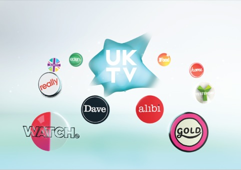 UKTV logo shown with channel sub brands