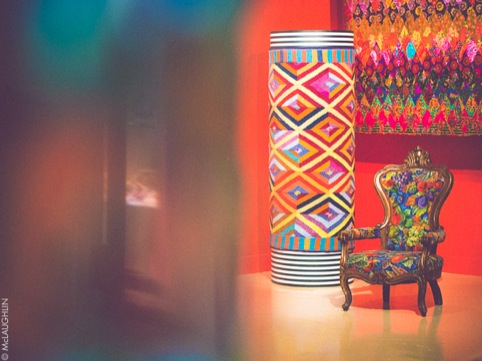 Kaffe Fassett-designed furnishings