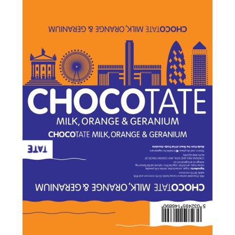 Milk, orange and geranium chocolate