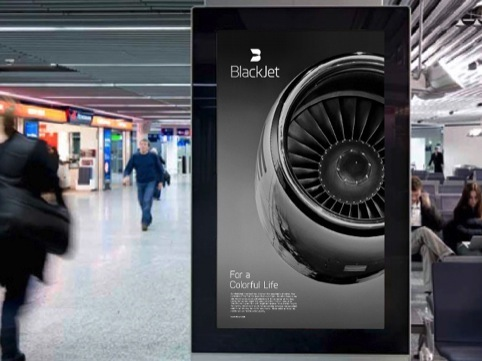 BlackJet airport ad