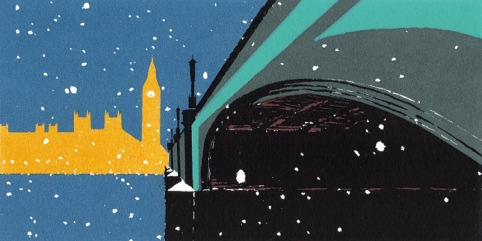 Nicola Styan, Night Time 20/02/13., screen print