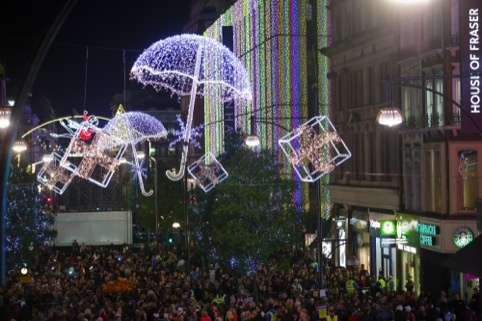 The 2012 Oxford Street Christmas lights