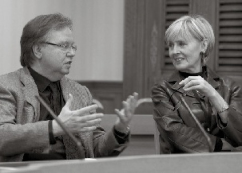 Report co-authors Barry Quirke and Baroness Kingsmill