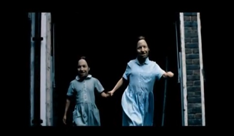 A still from Aphex Twin's Come to Daddy video, by Chris Cunningham