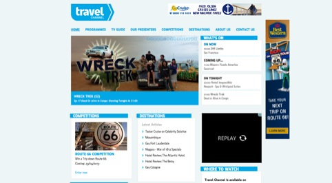 New Travel Channel website
