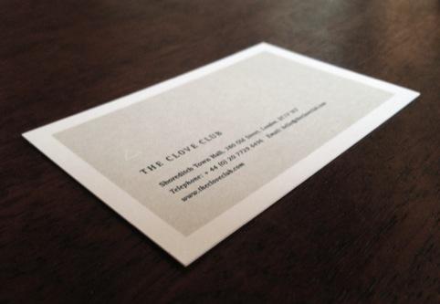 The Clove Club card