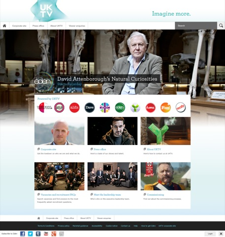 UKTV homepage