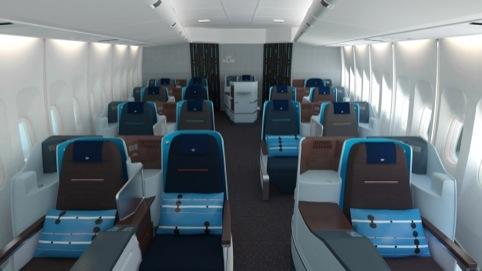 The new cabin interior