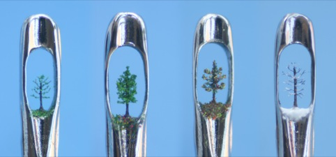 Tiny trees in the eye of a needle