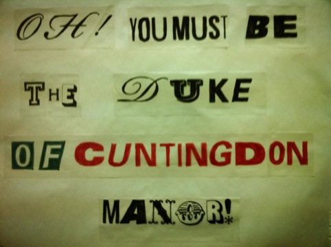 A piece of work created on the Valentine's Day typographic swearing workshop