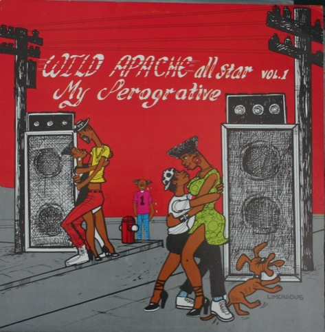 Wild Apache album cover, by Wilfred Limonious