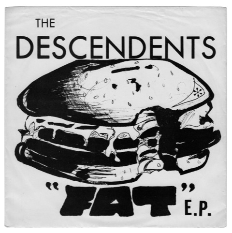 The Descendents, Fat EP, New Alliance Records. Artwork Frank Navetta, 1981
