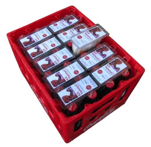 The AirPod in a Coca-Cola crate