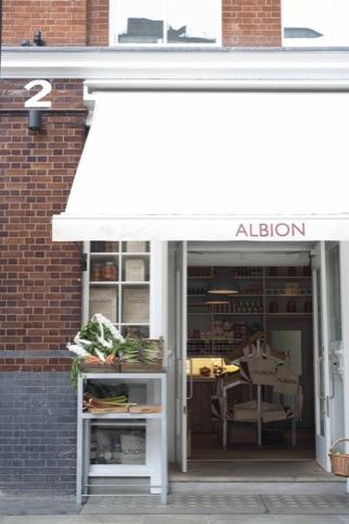Albion cafe shop front