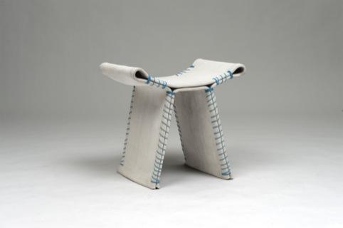 Florian Schmid, Stitching Concrete Stool prototype 2011