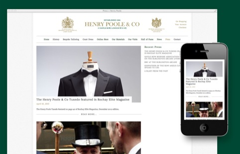 Henry Poole website