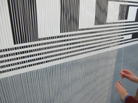 Live monochrome weaving will take place for the duration of the show