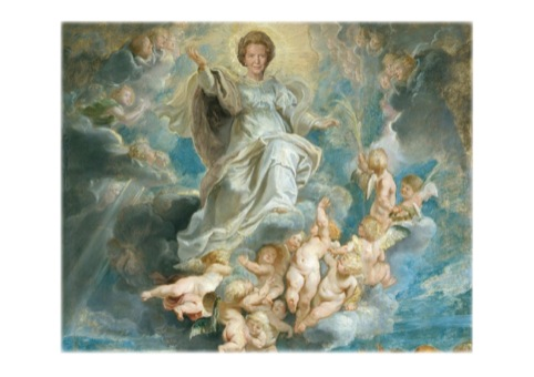 Maggie in Heaven (after the Assumption of the Virgin Mary)