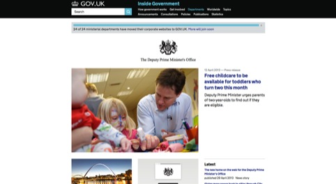 The Deputy Prime Minister's website on Gov.uk