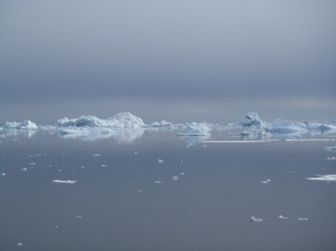 Still from iceberg video by Mariele Neudecker, 2012