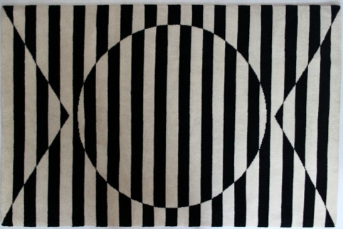 Patternity 'Sunstripe' rug with Made By Node