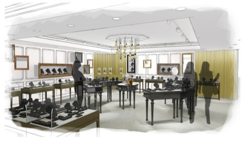 20.20 design for new Fortnum and Mason jewellery department