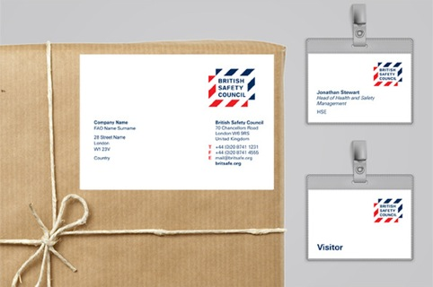 British Safety Council printed collateral