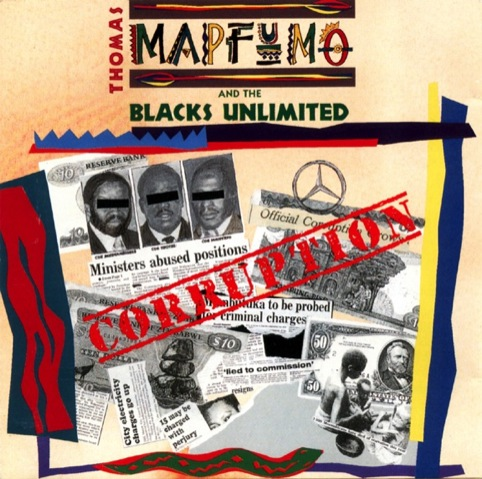 Cover design for Thomas Mapfumo's Corruption album