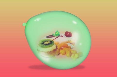 Joseph Kraska exploring 'food pinata' in the Tutti Frutti book