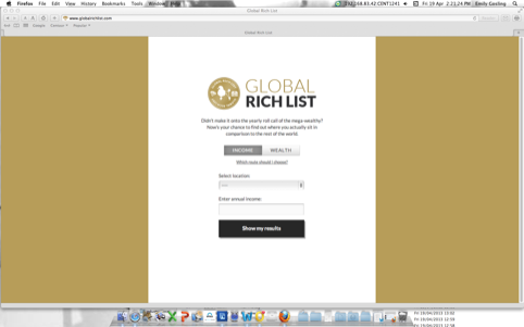 The Global Rich List homepage